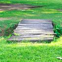 Stock Photo of old wooden bridge