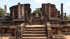 Polonnaruwa Vatadage. Sri Lanka. - stock footage