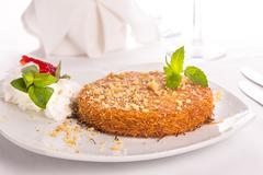 Southern turkish kunefe dessert served after a nice meal Stock Photos
