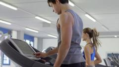 2of27 People training in fitness club, gym and sport activity Stock Footage