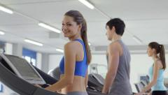 3of27 People training in fitness club, gym and sport activity Stock Footage