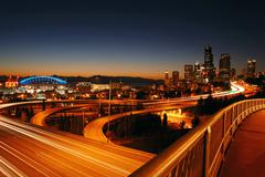 Seattle freeways Stock Photos