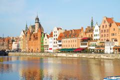 Old town waterfront, gdansk Stock Photos