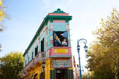 Colorful building in the la boca neighborhood of buenos aires,argentina Stock Photos
