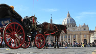 Stock Video Footage of Horse & cart, Pilgrims & St Peters 2
