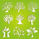 Stock Illustration of set of 9 ecology icons