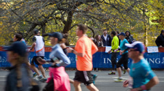 New York City Marathon Stock Footage