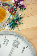 Stock Photo of new year's: midnight party celebration background