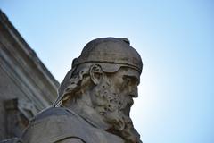 San Isidore sculpture - stock photo
