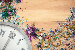 Stock Photo of new year's: new year party celebration background