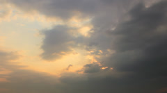 Darkness overcast on yellow sky - stock footage