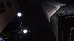 Night time NYC gothic building Stock Footage