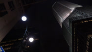 Stock Video Footage of Night time NYC gothic building
