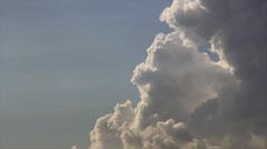 Cumulus in sun lights Stock Footage
