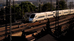 The train go back slowly to the Beijing Station Stock Footage