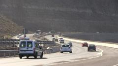 Spain - Gran Canaria - Las Palmas area - motorway Stock Footage