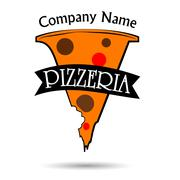Pizzeria logo Stock Illustration