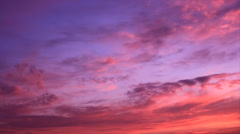 Warm color evening sky clouds Stock Footage