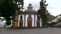 Spain - Gran Canaria - Church in the city Teror Stock Footage