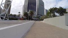 Downtown Miami Bicentennial Park Stock Footage