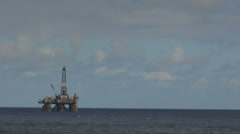 Atlantic Ocean - oil rig Stock Footage
