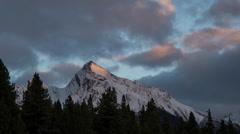 Sunset light shinning on Mountain  Stock Footage