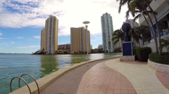 One Miami and Biscayne bay Stock Footage