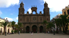 Spain - Gran Canaria - The Cathedral of Santa Ana Stock Footage
