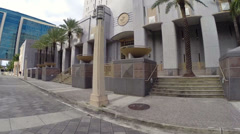 Obsolete Federal Courthouse Miami Stock Footage