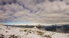 Cloudy day up on Whistlers Mountain Stock Footage