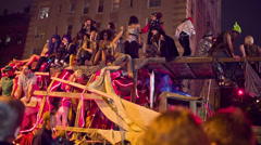 Halloween Parade in NYC Stock Footage