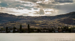 Cloudy afternoon at Osoyoos lake Stock Footage