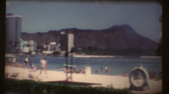 Hawaiian beach, Waikiki Stock Footage