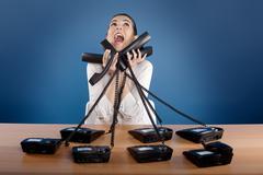 stressful work - stock photo