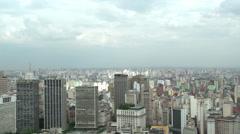 033 Sao Paulo, skyline, panshot Stock Footage