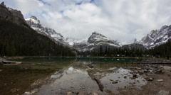 Cloudy day at Lake O'Hara - stock footage
