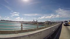 Macarthur Bridge Miami Beach Stock Footage