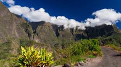 Clouds Timelapse over Mountain Range, Reunion, Cilaos 02 Stock Footage