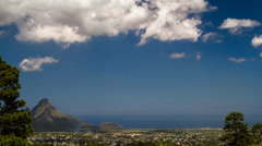 Landscape Tilt Timelapse, Mauritius Curepipe Stock Footage