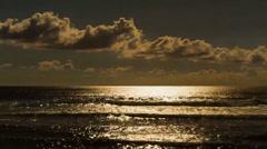 Romantic Sunset Timelapse with Clouds at La Reunion, La Saline Les Bains Stock Footage