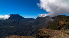 Landscape and Cloud Timelapse at La Reunion, Le Grand Bénare 05 Stock Footage