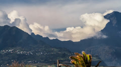 Clouds Timelapse over Mountain Range, Reunion Saint Louis Stock Footage
