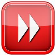 fast forward sign icon - stock illustration