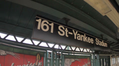 Yankee Stadium Subway Stop Stock Footage