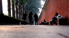 Peaceful scene in the holiday afternoon,near Tian'anmen Square,Beijing,China Stock Footage