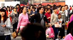 The scene right outside the Alley Nanluogu,Beijing,China Stock Footage