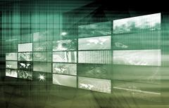 Media telecommunications Stock Illustration