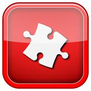 Puzzle piece icon Stock Illustration