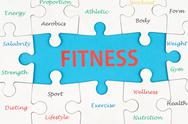 Stock Illustration of fitness concept words