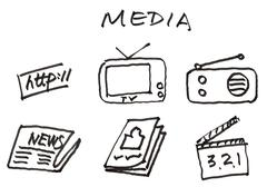 media - stock illustration